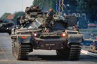 "- Royal Army, ""Chieftain"" tank during NATO exercises in Holland<br /> <br /> - Royal Army, carro armato ""Chieftain"" durante esercitazioni NATO in Olanda"
