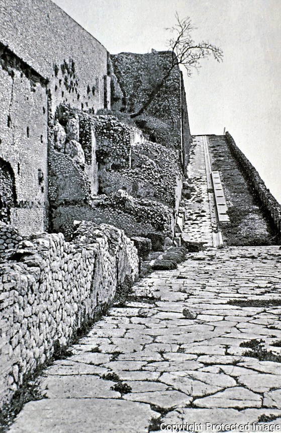 Exterior walkway at the Sanctuary of Fortuna Primigenia, Palestrina, Italy, AD 80