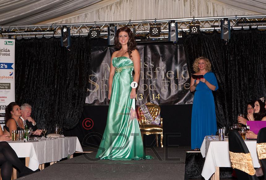 Bethanie Ulyett in her evening gown