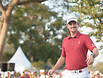 Justin Rose of England celebrates his victory during UBS Hong Kong Open golf tournament at the Fanling golf course on 25 October 2015 in Hong Kong, China. Photo by Xaume Olleros / Power Sport Images