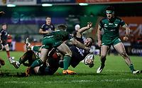 27th December 2020 | Connacht  vs Ulster <br /> <br /> Alby Mathewson is tackled by Denis Buckley during the Guinness PRO14 match between Connacht and Ulster at The Sportsground in Galway. Photo by John Dickson/Dicksondigital