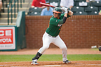 Yasmani Grandal #24 of the Miami Hurricanes at bat against the Boston College Eagles at the 2010 ACC Baseball Tournament at NewBridge Bank Park May 27, 2010, in Greensboro, North Carolina.  The Eagles defeated the Hurricanes 12-10 in 10 innings.  Photo by Brian Westerholt / Four Seam Images