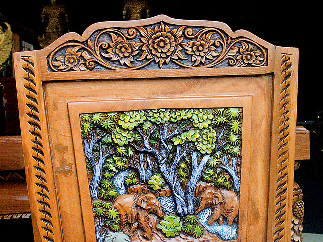 Carved Chair,Thai Thani Restaurant, Orlando, Florida