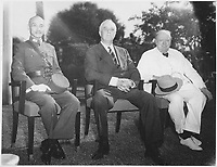 Franklin D. Roosevelt, Chiang,Kai Shek, and Churchill in Cairo, Egyp NOV 22 to 26, 1943
