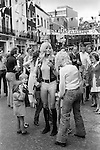 Hot Pants fashion Beauchamp Place street party Knightsbridge London SW3.