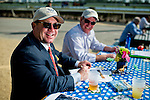 HALLANDALE BEACH, FL - JAN 28:Fans handicap the races before Pegasus World Cup Invitational Day at Gulfstream Park Race Course on January 28, 2017 in Hallandale Beach, Florida. (Photo by Scott Serio/Eclipse Sportswire/Getty Images)