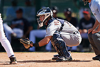 Detroit Tigers catcher Brady Policelli (71) awaits the pitch during an Instructional League game against the Atlanta Braves on October 10, 2017 at the ESPN Wide World of Sports Complex in Orlando, Florida.  (Mike Janes/Four Seam Images)