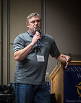 Nilkon's Jeff Mitchell discusses camera and lens trends and technology during the afternoon on the Saturday symposium at STW XXXI, Winnemucca, Nevada, April 12, 2019.<br /> .<br /> .<br /> .<br /> .<br /> @shootingthewest, @winnemuccanevada, #ShootingTheWest, @winnemuccaconventioncenter, #WinnemuccaNevada, #STWXXXI, #NevadaPhotographyExperience, #WCVA