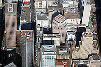 aerial photograph 333 Bush Street, 101 Montgomery Street and adjacent skyscrapers San Francisco