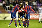 Levante UD's Jose Luis Morales, Roger Marti, Victor Casadesus and Rober Pier celebrate goal during La Liga Second Division match. March 11,2017. (ALTERPHOTOS/Acero)