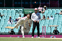 11th January 2021; Sydney Cricket Ground, Sydney, New South Wales, Australia; International Test Cricket, Third Test Day Five, Australia versus India; Marnus Labuschagne of Australia bowling