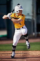 Max Porter during the Under Armour All-America Pre-Season Tournament, powered by Baseball Factory, on January 19, 2019 at Sloan Park in Mesa, Arizona.  Max Porter is an outfielder from San Carlos, California who attends Saint Francis High School.  (Mike Janes/Four Seam Images)