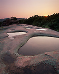 "Elephant Rocks State Park, MO<br /> ""The Birdbath"" pools in a granite outcrop reflect the evening sky's colors"