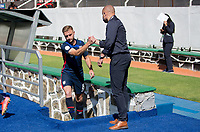 GUADALAJARA, MEXICO - MARCH 18: Earnie Stewart and Djordje Mihailovic #8 of the United States during a game between Costa Rica and USMNT U-23 at Estadio Jalisco on March 18, 2021 in Guadalajara, Mexico.
