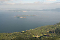 View from Summit of Mt. Constitution, Orcas Island, San Juan Islands, Washington, US