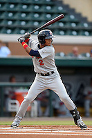 Brevard County Manatees  shortstop Orlando Arcia (2) during a game against the Lakeland Flying Tigers on April 10, 2014 at Joker Marchant Stadium in Lakeland, Florida.  Lakeland defeated Brevard County 6-5.  (Mike Janes/Four Seam Images)