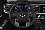 Car pictures of steering wheel view of a 2018 Toyota Tacoma TRD Off Road Double Cab 4 Door Pick Up