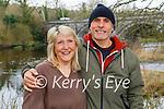 Enjoying a stroll by the river in Listowel on Sunday, l to r: Amanda and Lorenzo Cubeggu.