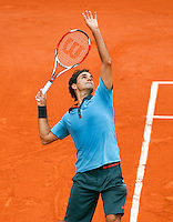 28-5-09, France, Paris, Tennis, Roland Garros, Federer