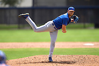 New York Mets pitcher Dan Goggin (0) during a Minor League Spring Training game against the Houston Astros on April 27, 2021 at FITTEAM Ballpark of the Palm Beaches in Palm Beach, Fla.  (Mike Janes/Four Seam Images)