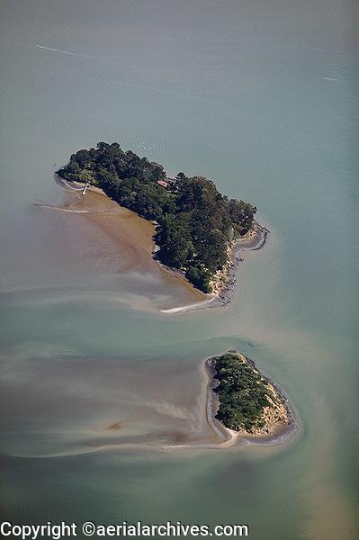 aerial photograph, Marin Islands, Marin County, California