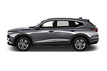 Car Driver side profile view of a 2022 Acura MDX - 5 Door SUV Side View