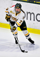 23 November 2011: University of Vermont Catamount forward Krystal Baumann, a Freshman from Farmington, MN, in action against the University of Maine Black Bears at Gutterson Fieldhouse in Burlington, Vermont. The Lady Bears defeated the Lady Cats 5-2 in Hockey East play. Mandatory Credit: Ed Wolfstein Photo