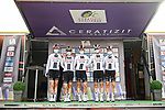 Team Sunweb at sign on before the start of Stage 1 of the CERATIZIT Challenge by La Vuelta 2020, running 82.8km from Toledo to Escalona, Spain. 6th November 2020.<br /> Picture: Antonio Baixauli López/BaixauliStudio | Cyclefile<br /> <br /> All photos usage must carry mandatory copyright credit (© Cyclefile | Antonio Baixauli López/BaixauliStudio)