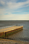 Knollwood Beach pier, Route 154, Old Saybrook, CT. Long Island Sound