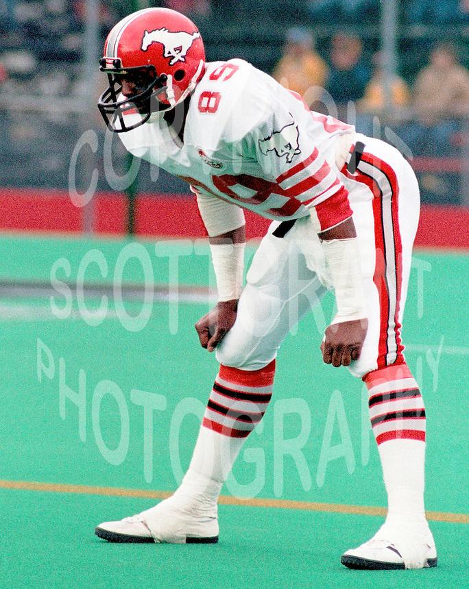 Nate Johnson Calgary Stampeders 1984. Photo Scott Grant
