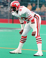 Nate Johnson Calgary Stampeders 1984. Photo Scott Grant