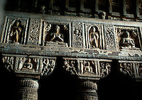 Indien,buddh. Höhlen Ajanta (Maharashtra), Unesco-Weltkulturerbe, in Höhle 19