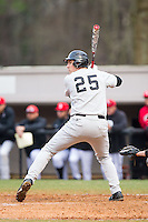 Matt Conway (25) of the Wake Forest Demon Deacons at bat against the Davidson Wildcats at Wilson Field on March 19, 2014 in Davidson, North Carolina.  The Wildcats defeated the Demon Deacons 7-6.  (Brian Westerholt/Four Seam Images)
