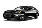 Stock pictures of low aggressive front three quarter view of a 2019 Genesis G90 Ultimate 4 Door Sedan