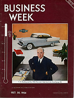 Business Week, October 30, 2954. Chevrolet Executive T. Keating. Photograph by John G. Zimmerman.
