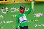 Mark Cavendish (GBR) Deceuninck-Quick Step retains the points Green Jersey at the end of Stage 18 of the 2021 Tour de France, running 129.7km from Pau to Luz-Ardiden, France. 15th July 2021.  <br /> Picture: Colin Flockton   Cyclefile<br /> <br /> All photos usage must carry mandatory copyright credit (© Cyclefile   Colin Flockton)