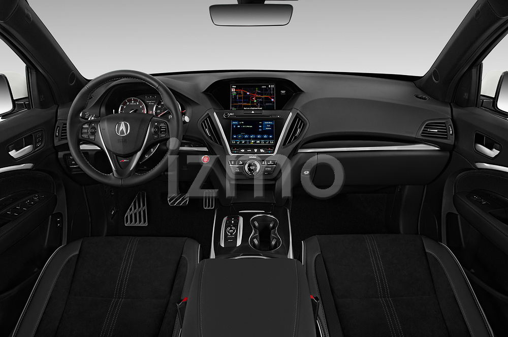 Straight dashboard view of a 2019 Acura MDX A Spec 5 Door SUV