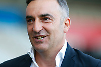 Swansea City manager Carlos Carvalhal prior to kick off of the Premier League match between Swansea City and Southampton at Liberty Stadium, Swansea, Wales, UK. Tuesday 08 May 2018
