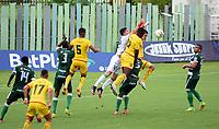 VALLEDUPAR - COLOMBIA, 30-08-2021: Valledupar F. C. v Bogota F. C. durante partido de la fecha 6 por el Torneo BetPlay DIMAYOR II 2021 en el estadio Armando Maestre Pavejau en la ciudad de Valledupar. / Valledupar F. C. v Bogota F. C. during a match of the 6th date for the BetPlay DIMAYOR II 2021 Tournament at the Armando Maestre stadium in Valledupar city. / Photo: VizzorImage / Adamis Guerra / Cont.