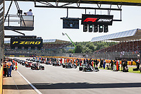 formation lap for the sprint race during the Formula 1 Pirelli British Grand Prix 2021, 10th round of the 2021 FIA Formula One World Championship from July 16 to 18, 2021 on the Silverstone Circuit, in Silverstone, United Kingdom <br /> Formula 1 GP Great Britain Silverstone 17/07/2021<br /> Photo DPPI/Panoramic/Insidefoto <br /> ITALY ONLY