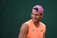 12th April 2021; Roquebrune-Cap-Martin, France;  Rafael Nadal during practise sessions for the  Rolex Monte Carlo Masters