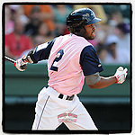 #OTD On This Day, May 11, 2014, Manuel Margot (2) of the Greenville Drive played a game against the West Virginia Power at Fluor Field at the West End in Greenville, South Carolina. Margot later played for four years with San Diego before being traded to Tampa Bay. (Tom Priddy/Four Seam Images) #MiLB #OnThisDay #MissingBaseball #nobaseball #stayathome #minorleagues #minorleaguebaseball #Baseball #SallyLeague #AloneTogether