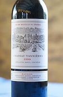 Bottle of Chateau Vannieres 1999 Chateau Vannieres (Vannières) La Cadiere (Cadière) d'Azur Bandol Var Cote d'Azur France