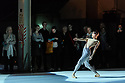 """London, UK. 11.10.2017. The Royal Ballet and The National Ballet of Canada present choreographer, Robert Binet's, """"The Dreamers Ever Leave You"""" at the Printworks, in London's Docklands. The dancers are:  Alexander Campbell, Skylar Campbell, Hannah Fischer, Spencer Hack, Emma Hawes, Francesca Hayward, Ryoichi Hirano, Rui Huang, Harrison James, Elena Lobsanova, Yasmine Naghdi, Heather Ogden, Felix Paquet. Piano played by Lubomyr Melnyk. Picture shows: Rui Huang. Photograph © Jane Hobson."""