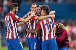 Tiago Cardoso Mendes of Atletico de Madrid celebrates with teammates during their La Liga match between Atletico de Madrid and Granada CF at the Vicente Calderon Stadium on 15 October 2016 in Madrid, Spain. Photo by Diego Gonzalez Souto / Power Sport Images