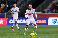 Harrison, NJ - Thursday March 01, 2018: Daniel Royer. The New York Red Bulls defeated C.D. Olimpia 2-0 (3-1 on aggregate) during a 2018 CONCACAF Champions League Round of 16 match at Red Bull Arena.