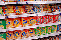 Ritz biscuits at the Tesco supermarket that recently opened in Beijing, China. Tesco has joined with Ting Hsin, a 25-strong, upscale hypermarket based in the Shanghai region, in a deal worth £140m last year and has started re-branding and opening the stores with the familiar Tesco logo..27 Jan 2007