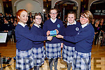 Laura Daly, Jessica O'Leary, Katelyn Curtin, Shauna Cronin and Sarah Keating members of the Presentation Castleisland Choir launching their CD in the Ballygarry House Hotel on Thursday