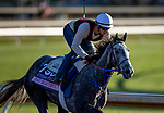 November 4, 2020: Crazy Beautiful, trained by trainer Kenneth G. McPeek, exercises in preparation for the Breeders' Cup Juvenile Fillies at Keeneland Racetrack in Lexington, Kentucky on November 4, 2020. Alex Evers/Eclipse Sportswire/Breeders Cup