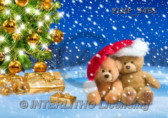 Marek, CHRISTMAS ANIMALS, WEIHNACHTEN TIERE, NAVIDAD ANIMALES, teddies, photos+++++,PLMP3461,#Xa# in snow,outsite,
